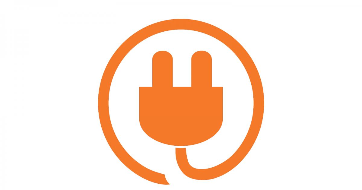 Logo Icon Technikwerker auf Weiß