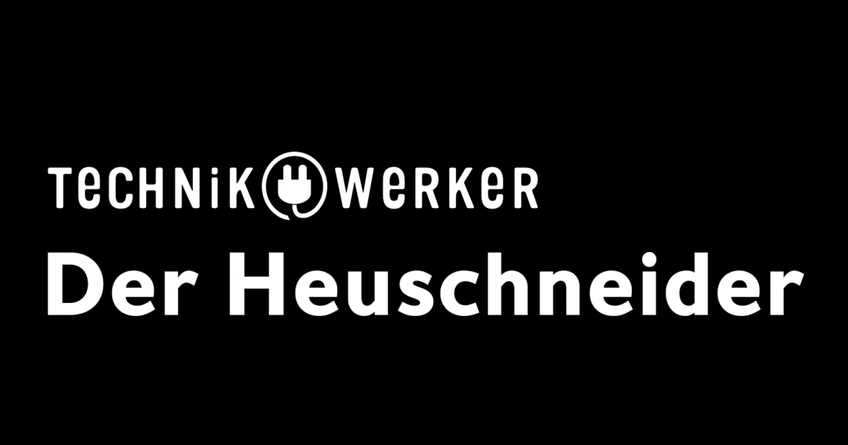 Logo Text Technikwerker auf Schwarz