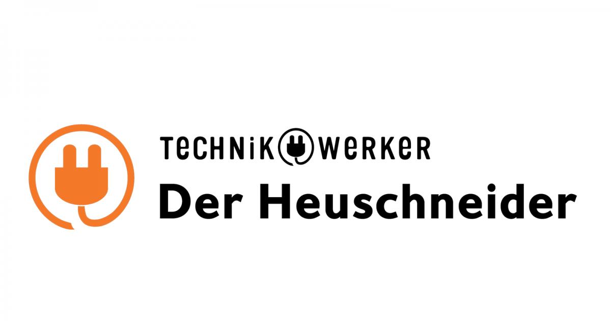 Logo Icon Text Technikwerker auf Weiß
