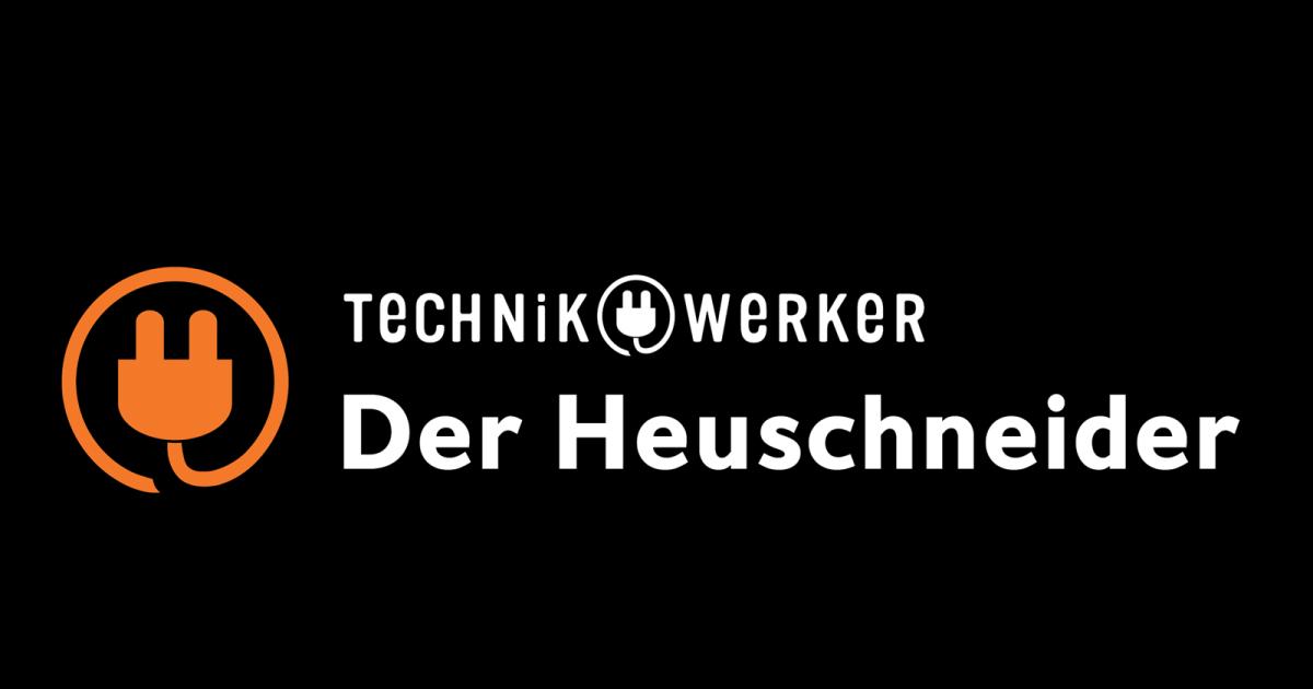 Logo Icon Text Technikwerker auf Schwarz